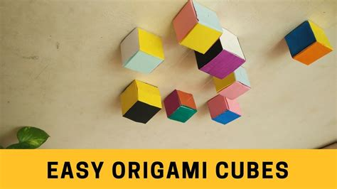 How To Make Origami Cube Step By Step - how to make an easy origami cube step by step method
