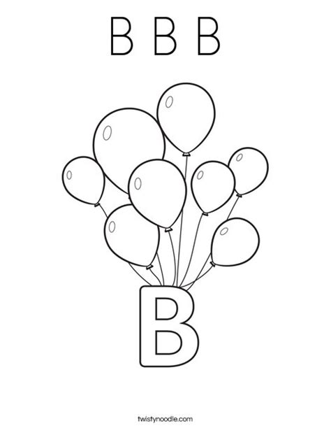 coloring pages for letter b b b b coloring page twisty noodle