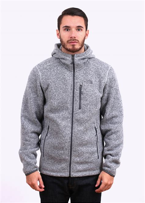Hoodie M the gordon lyons zip hoody grey