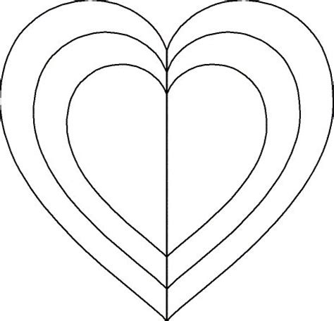 25 best ideas about heart template on pinterest