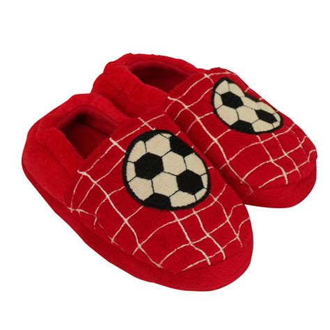 house shoes boys new boys football childrens slipper kids quality novelty slippers size uk 9 3 ebay