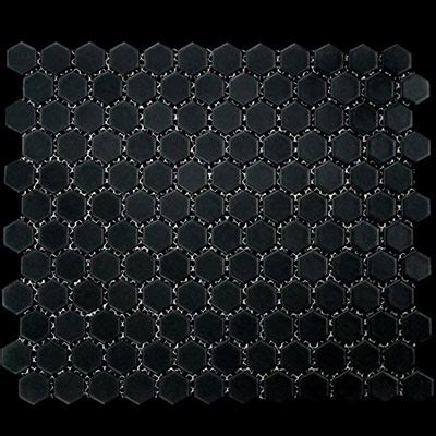 1 inch black ceramic tile mass contemporary mosaics 1 inch hexagon black