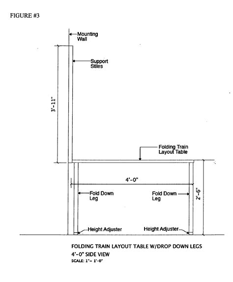 model train layout table height patent us20130125795 folding model train layout table