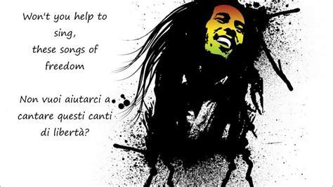 testo bob marley redemption song bob marley testo e traduzione