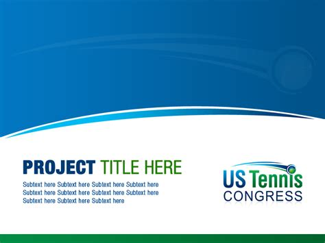 serious professional powerpoint design for us tennis