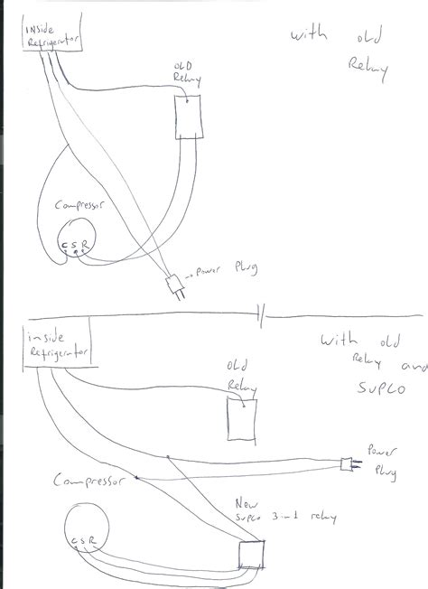 draw the wiring diagram of a refrigerator draw just