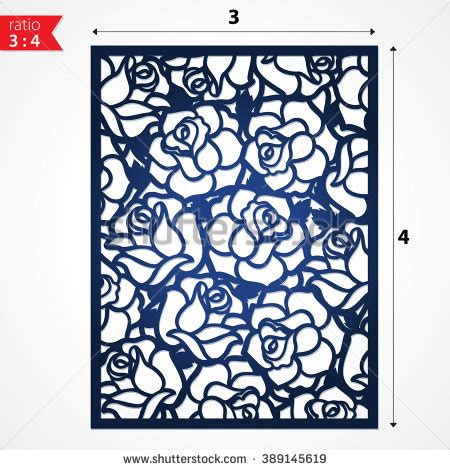 pattern cutting en francais cutout silhouette botanical roses pattern laser stock