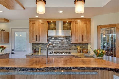 Wood Look Tile Countertop Contemporary Remedygolf Us Live Edge Siding Kitchen Contemporary With Wood Slab Countertop San Francisco Hardwood Flooring