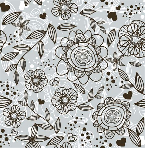 pattern of doodle doodle flower background www imgkid com the image kid