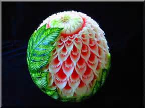 Watermelon carve is very interesting for fruit s this look like is