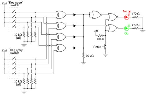 integrated circuits for logic gates simple combination lock