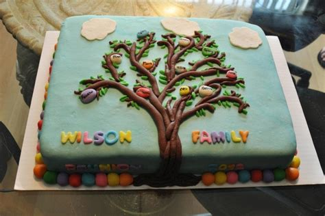 Best Soft Sheets Family Tree Cake Cakecentral Com