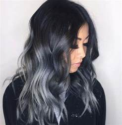 black with gray hair styles 25 best ideas about black and silver hair on pinterest