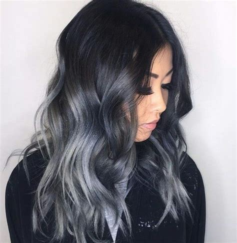 black gray ombre let your hair
