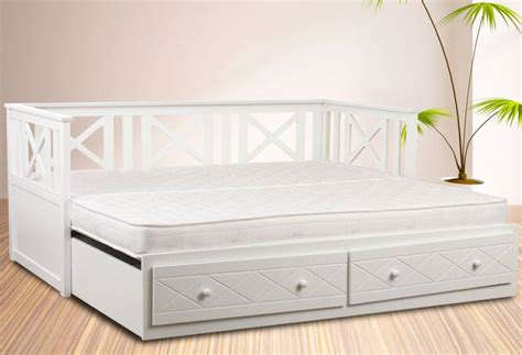 Daybed With Pull Out Bed Sweet Dreams Chaise Guest Daybed With Underbed Pull Out Guest Bed White Finish With Or
