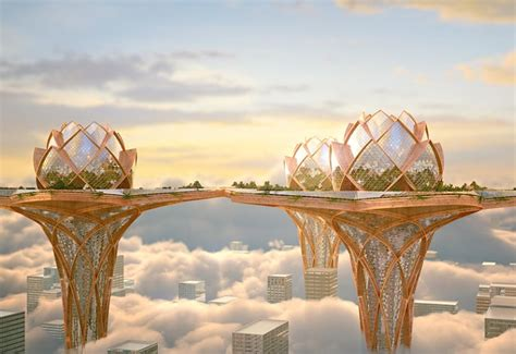 house in the sky city in the sky future city concept by hrama most