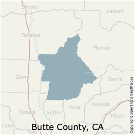 where is butte county california map best places to live in butte county california