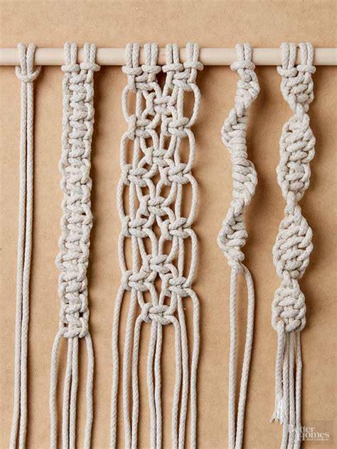 macrame knots how to tie macrame knots better homes gardens