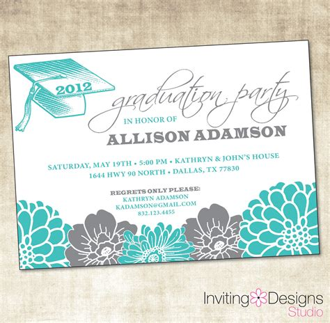 high school graduation open house invitations ideas