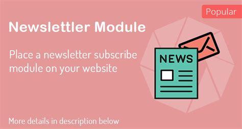 opencart newsletter module