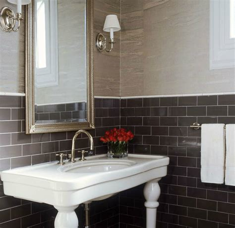 brown tile bathroom brown subway tiles contemporary bathroom s r gambrel