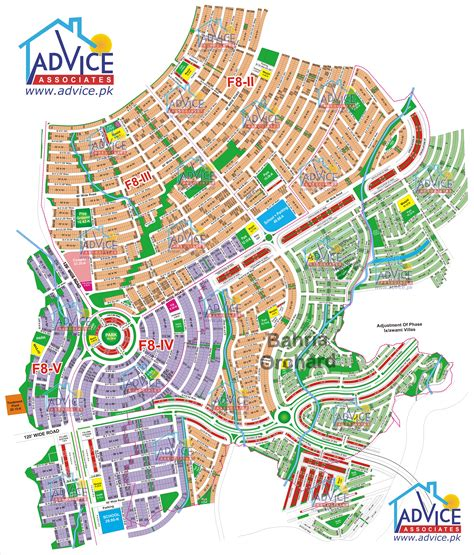 orchard map map of bahria town all phases and blocks