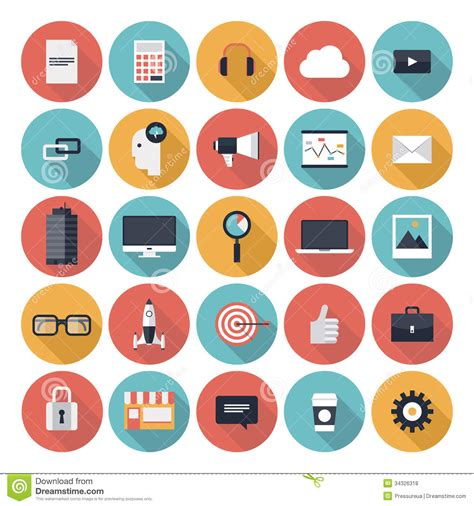 Vector Business Icons Set Royalty Free Stock Photos Image 1095468 Business Flat Icons Set Royalty Free Stock Photos Image 34326318