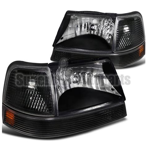 2000 ford ranger lights 1998 2000 ford ranger headlights black w turn signal