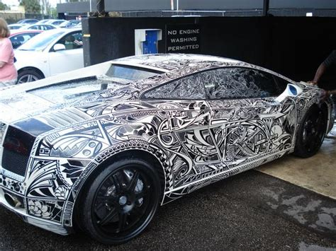 lamborghini custom paint job exotic whips sharpie lambo pictures