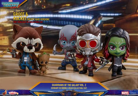 Cosbaby 360 Groot Set Of 3 Guardian Of The Galaxy Vol 2 Toys guardians of the galaxy vol 2 cosbaby bobble heads by