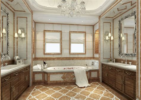 new home design model bathroom neoclassical
