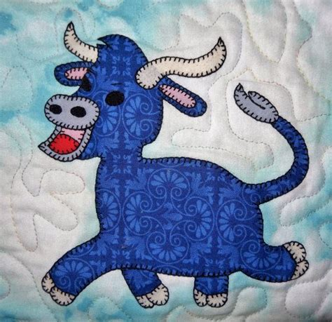 cute goat pattern farm animal applique pdf baby or childs quilt pattern cat