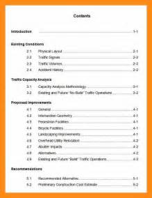 8 table of contents sample actor resumed