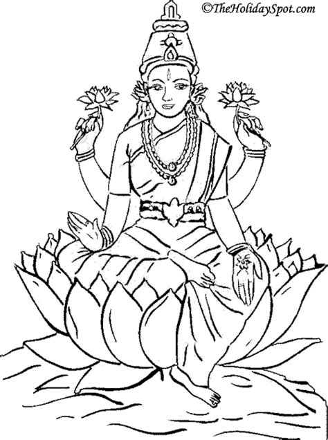 free coloring pages of lakshmi