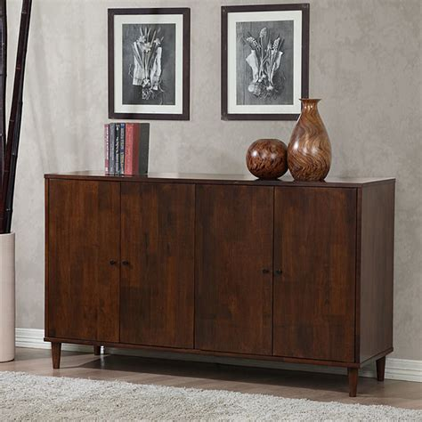 Overstock Dining Room Buffet Vilas Tobacco Finished 4 Door Dining Buffet Contemporary