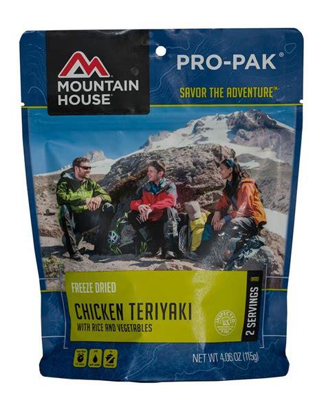 mountain house pro pak mountain house chicken teriyaki pro pak