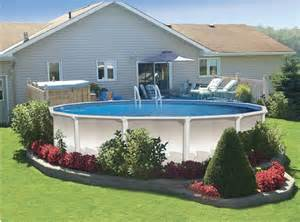 above ground pool landscaping here s some very pretty above groun