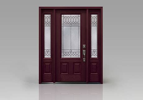 fiberglass entry door with glass clopay smooth fiberglass collection