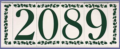 tile house numbers custom ceramic tile house numbers