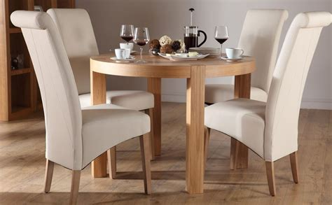 york oak dining table and 4 chairs set richmond