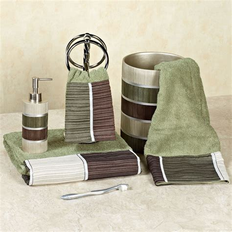 Bathroom Rugs And Accessories Modern Line Bath Towel Set