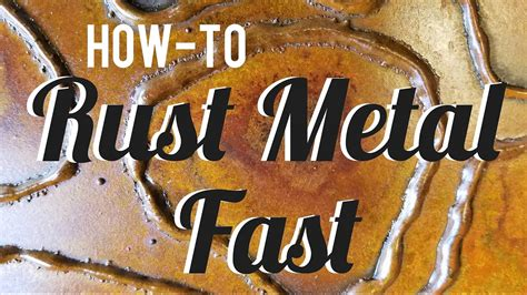 rust metal fast simple spray  patina youtube