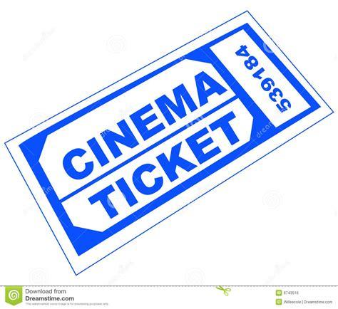 cineplex online cinema ticket stock vector image of admission entry