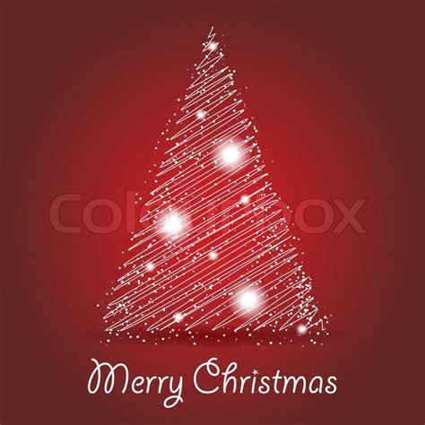 abstrack leuchtenden weihnachtsbaum karte vektorgrafik
