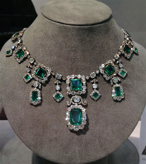 Emerald Jewelry by The Savoy Aosta Emerald Necklace A Spectacular Early 19th