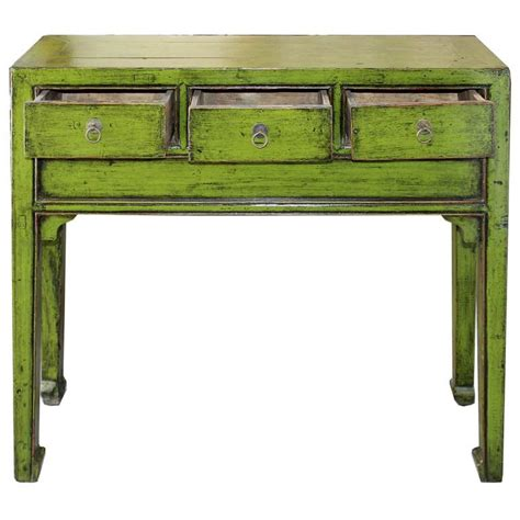 green sofa table lime green console table at 1stdibs