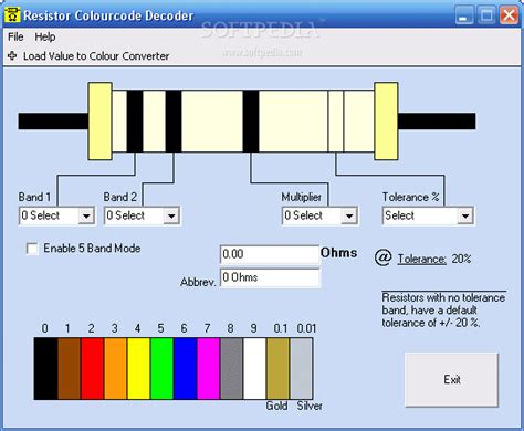 resistor code decoder resistor colourcode decoder