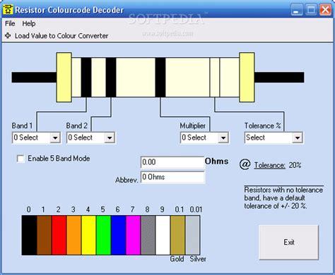 resistor decoder resistor colourcode decoder