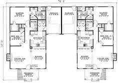 duplex house plans with garage in the middle 1000 images about duplex plans on pinterest duplex