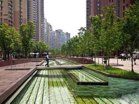 urban layout landscape features and pedestrian usage gubei pedestrian promenade by swa group 171 landscape